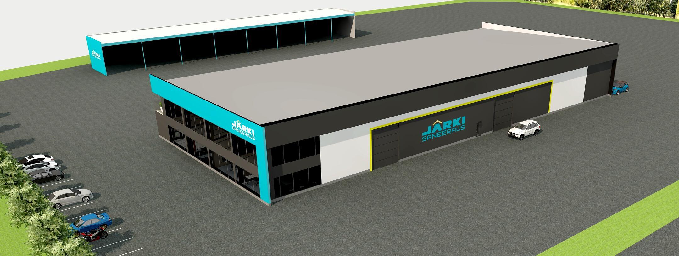 Järki-Saneerauksen isot ja upeat uudet toimitilat valmistuvat Lopelle